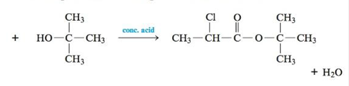 Chapter 21, Problem 143CWP, Esterification reactions are carried out in the presence of a strong acid such as H2SO4. A