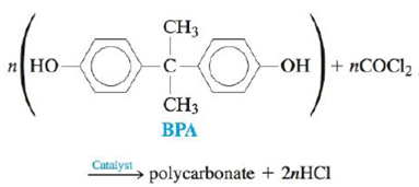 Chapter 21, Problem 152CP, Polycarbonates are a class of thermoplastic polymers that are used in the plastic lenses of