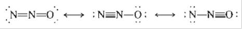 Chapter 3, Problem 104E, Nitrous oxide (N2O) has three possible Lewis structures: Given the following bond lengths, NN 167 pm
