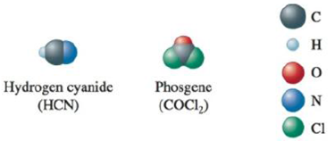 Chapter 4, Problem 44E, The space-filling models of hydrogen cyanide and phosgene are shown below. Use the localized