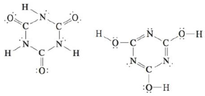 Chapter 4, Problem 85AE, Two structures can be drawn for cyanuric acid: a. Are these two structures the same molecule?