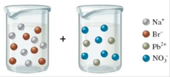 Chapter 6, Problem 6RQ, When the following beakers are mixed, draw a molecular-level representation of the product mixture , example  1
