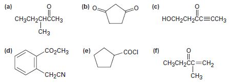 Chapter 22.SE, Problem 37AP, Identify all the acidic hydrogens (pKa  25) in the following molecules: