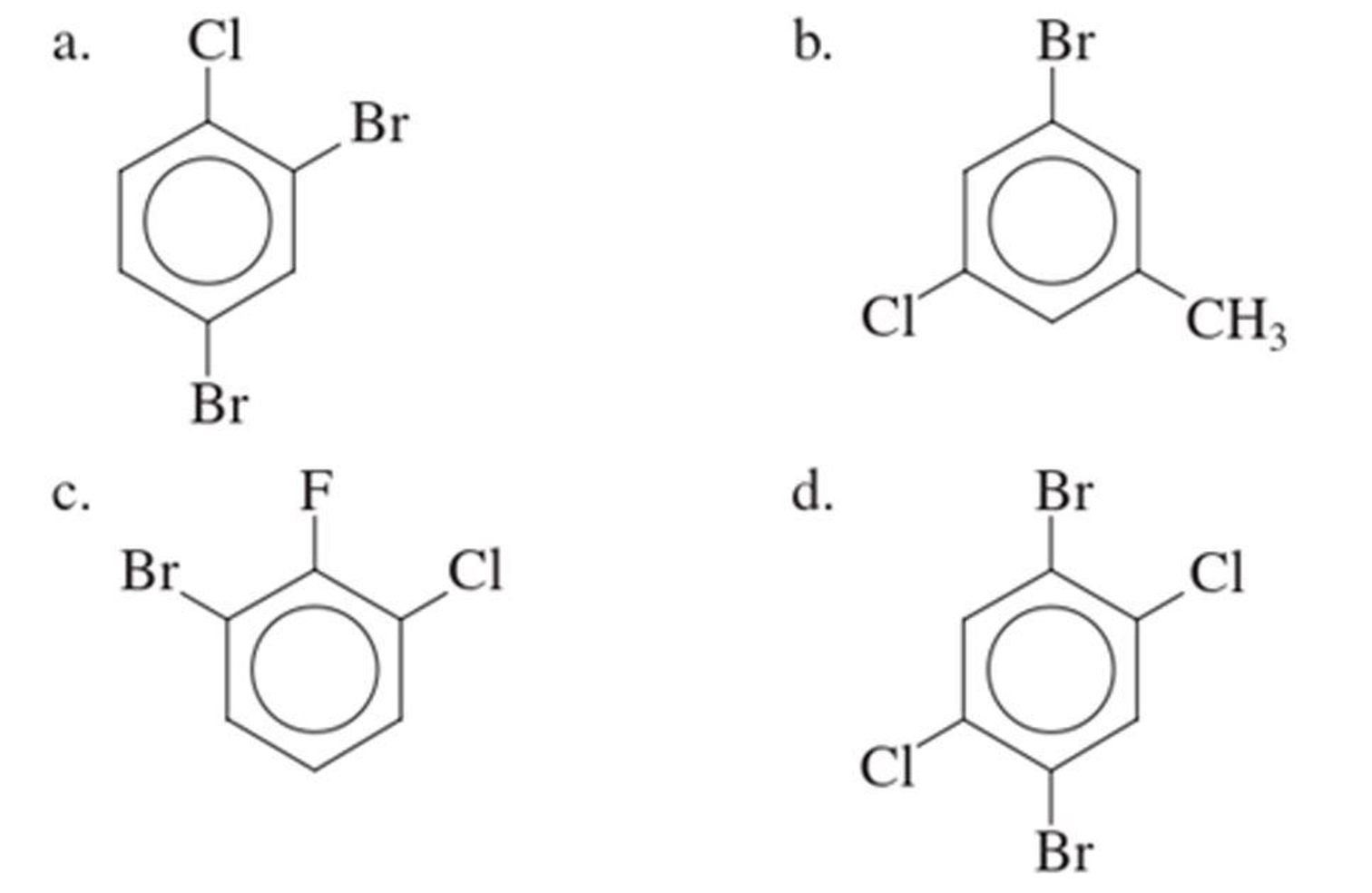 Chapter 2, Problem 2.111EP, Assign an IUPAC name to each of the following substituted benzenes.