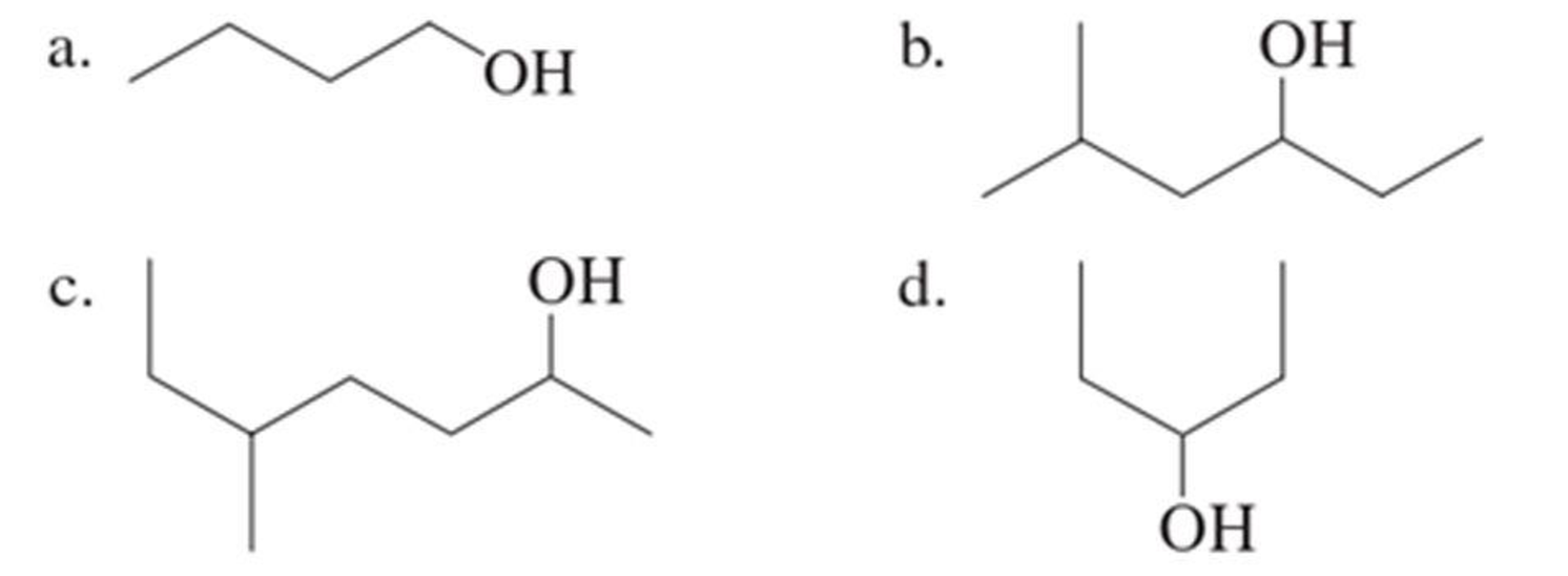 Chapter 3, Problem 3.10EP, Assign an IUPAC name to each of the following alcohols.