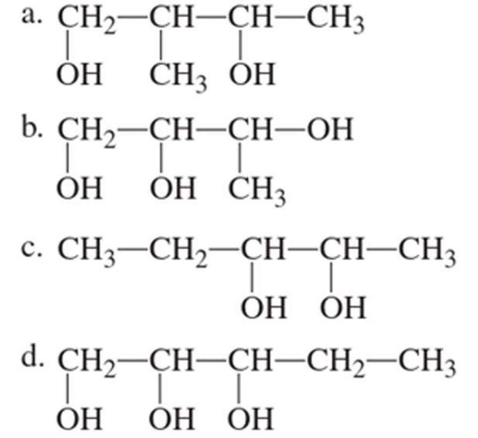 Chapter 3, Problem 3.16EP, Assign an IUPAC name to each of the following polyhydroxy alcohols.
