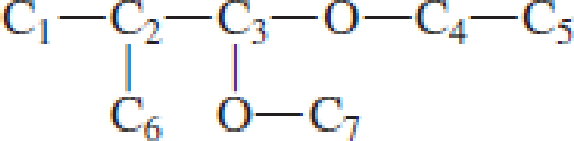 Chapter 4, Problem 4.102EP, Which carbon atom is the acetal carbon atom in each of the following structures? , example  1
