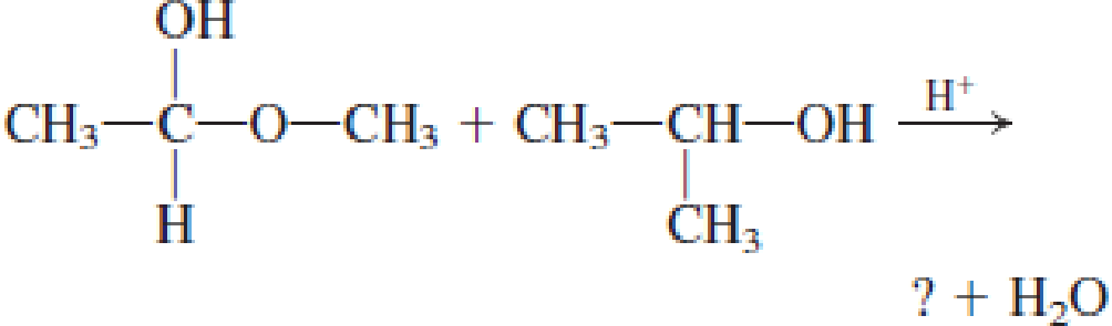 Chapter 4, Problem 4.104EP, Draw the structural formula of the missing compound(s) in each of the following reactions. , example  3