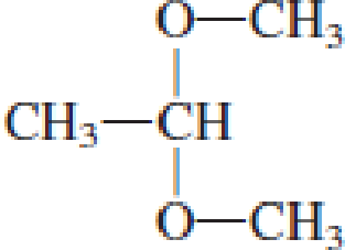 Chapter 4, Problem 4.105EP, Draw the structural formulas of the aldehyde (or ketone) and the two alcohols produced when the , example  1