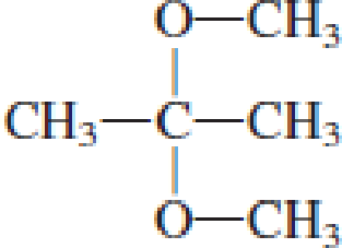 Chapter 4, Problem 4.105EP, Draw the structural formulas of the aldehyde (or ketone) and the two alcohols produced when the , example  2