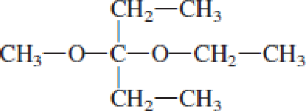 Chapter 4, Problem 4.105EP, Draw the structural formulas of the aldehyde (or ketone) and the two alcohols produced when the , example  3