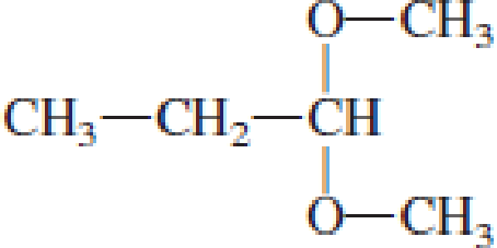 Chapter 4, Problem 4.106EP, Draw the structural formulas of the aldehyde (or ketone) and the two alcohols produced when the , example  1