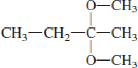 Chapter 4, Problem 4.106EP, Draw the structural formulas of the aldehyde (or ketone) and the two alcohols produced when the , example  2