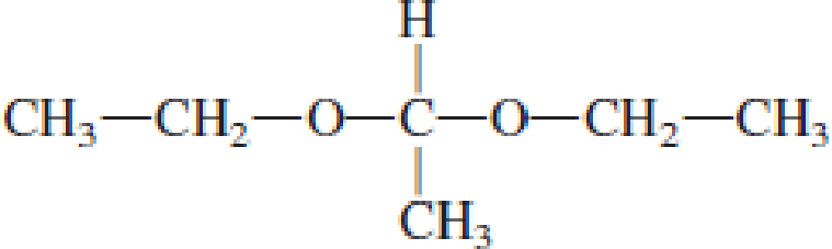 Chapter 4, Problem 4.106EP, Draw the structural formulas of the aldehyde (or ketone) and the two alcohols produced when the , example  3