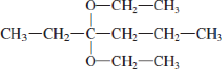 Chapter 4, Problem 4.106EP, Draw the structural formulas of the aldehyde (or ketone) and the two alcohols produced when the , example  4