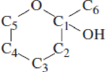 Chapter 4, Problem 4.94EP, Which carbon atom is the hemiacetal carbon atom in each of the following structures? , example  2