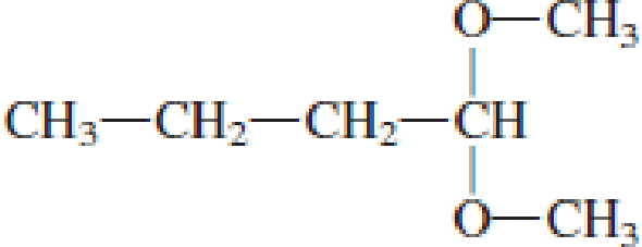 Chapter 4, Problem 4.99EP, Indicate whether each of the following compounds is an acetal. , example  1