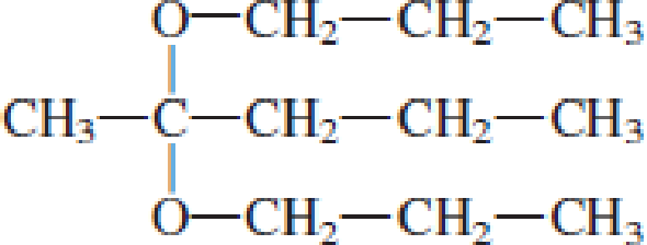 Chapter 4, Problem 4.99EP, Indicate whether each of the following compounds is an acetal. , example  4