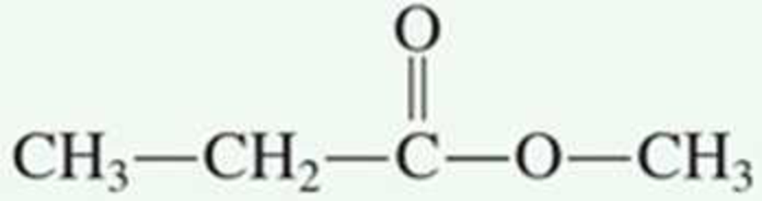 Chapter 5.12, Problem 2QQ, The IUPAC name for the ester is a. ethyl methyl ester b. methyl propyl ester c. methyl propanoate d.