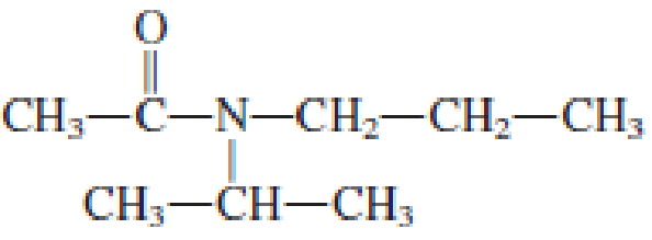 Chapter 6, Problem 6.104EP, Classify each of the amides in Problem 17-102 as a primary, secondary, or tertiary amide. , example  3