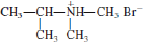 Chapter 6, Problem 6.58EP, What is the IUPAC name of the parent amine for each of the amine salts in problem 17-56? a. , example  2