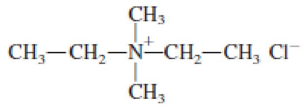 Chapter 6, Problem 6.71EP, Classify each of the following salts as an amine salt or a quaternary ammonium salt. a. , example  3
