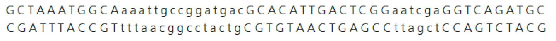 Chapter 9, Problem 8QP, The following segment of DNA codes for a protein. The uppercase letters represent exons. The