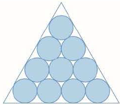 Chapter 11, Problem 15P, Suppose that circles of equal diameter are packed tightly in n rows inside an equilateral triangle.
