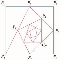 Chapter 11, Problem 18P, Starting with the vertices P1(0, 1), P2(1, 1), P3(1, 0), P4(0, 0) of a square, we construct further
