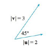 Chapter 12, Problem 3RE, If u and v are the vectors shown in the figure, find u  v and  u  v . Is u  v directed into the page