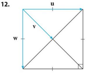 Chapter 12.3, Problem 12E, If u is a unit vector, find u  v and u  w.