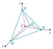 Chapter 12.3, Problem 57E, A molecule of methane, CH4, is structured with the four hydrogen atoms at the vertices of a regular