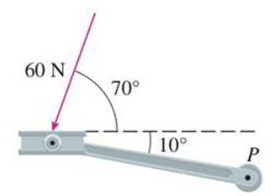 Chapter 12.4, Problem 39E, A bicycle pedal is pushed by a foot with a 60-N force as shown. The shaft of the pedal is 18 cm
