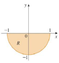 Chapter 15.3, Problem 3E, A region R is shown. Decide whether to use polar coordinates or rectangular coordinates and write