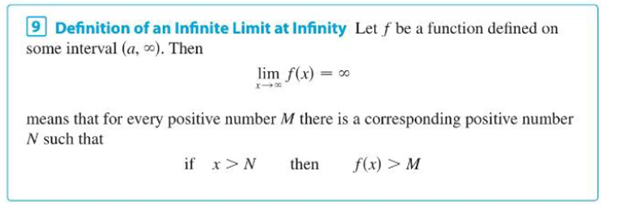 Chapter 2.6, Problem 79E, Use Definition 9 to prove that limxex=. Definition 9