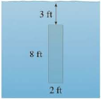 Chapter 8.3, Problem 3E, A vertical plate is submerged (or partially submerged) in water and has the indicated shape. Explain