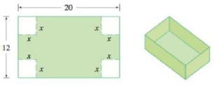 Chapter 1.1, Problem 63E, A box with an open top is to be constructed from a rectangular piece of cardboard with dimensions 12
