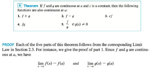 Chapter 2.5, Problem 30E, Explain, using Theorems 4, 5, 7, and 9, why the function is continuous at every number in its , example  1