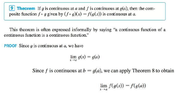 Chapter 2.5, Problem 30E, Explain, using Theorems 4, 5, 7, and 9, why the function is continuous at every number in its , example  5
