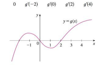 Chapter 2.7, Problem 17E, For the function g whose graph is given, arrange the following numbers in increasing order and