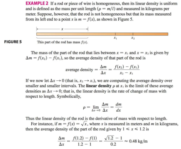 Chapter 3.7, Problem 17E, The mass of the part of a metal rod that lies between its left end and a point x meters to the right