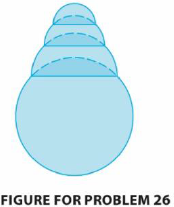 Chapter 4, Problem 26P, A hemispherical bubble is placed on a spherical bubble of radius 1. A smaller hemispherical bubble