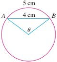 Chapter 4.8, Problem 40E, In the figure, the length of the chord AB is 4 cm and the length of the arc AB is 5 cm. Find the
