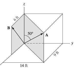 Chapter 1, Problem 1.62P, Use the dot product to find the angle between the position vectors A and B.