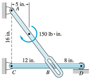 Chapter 4, Problem 4.66P, (a) draw the free-body diagrams for the entire assembly (or structure) and each of its parts.
