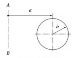 Chapter 8, Problem 8.77P, A torus is formed by rotating the circle about the axis AB. Compute the volume and the surface area
