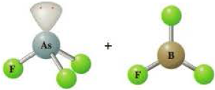 Chapter 15, Problem 15.37QP, The following shows ball-and-stick models of the reactants in a Lewis acidbase reaction. Write the