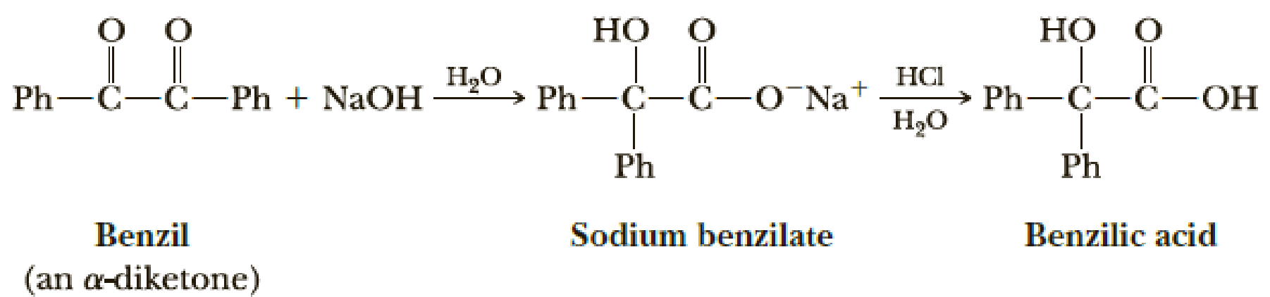 Chapter 17, Problem 17.24P, The reaction of an -diketone with concentrated sodium or potassium hydroxide to give the salt of an