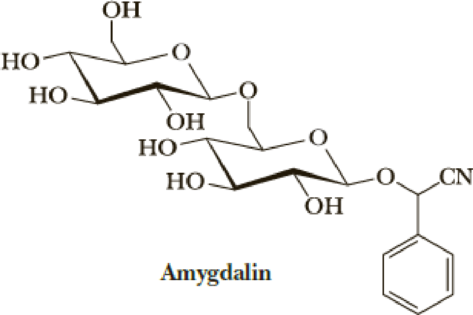 Chapter 25, Problem 25.38P, Amygdalin is a toxic component in the pits of bitter almonds, peaches, and apricots. (a) Name the