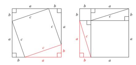 Chapter 1, Problem 3GP, For the third proof, consider the two squares shown in Figure 3. Both squares are of the same size,